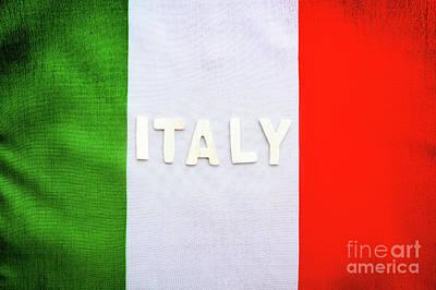 Photograph - Italian Flag by Anna Om