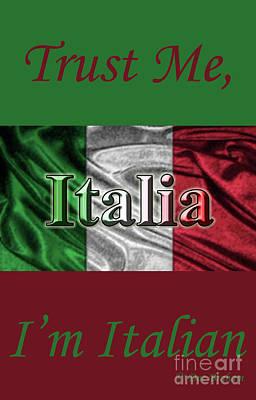 Digital Art - Italian Flag by Doc Braham