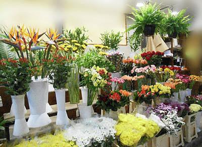 Pyrography - Italian Flower Market I by Irina Sztukowski