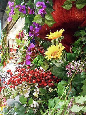 Photograph - Italian Flower Market V by Irina Sztukowski