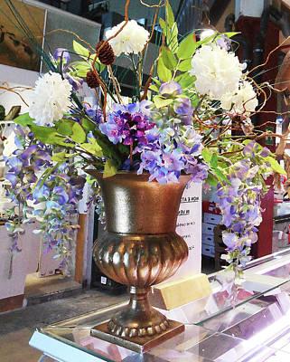 Photograph - Italian Flower Market Vi by Irina Sztukowski