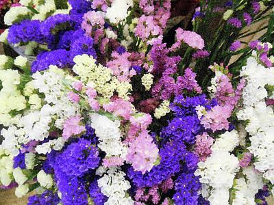 Photograph - Italian Flower Market Vii by Irina Sztukowski