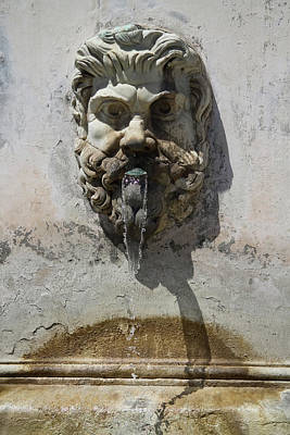 Photograph - Italian Fountain by Roger Mullenhour