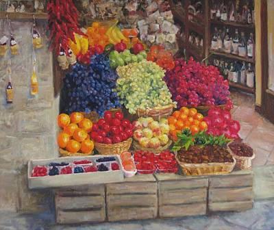 Painting - Italian Fruitstand by Elena Balekha