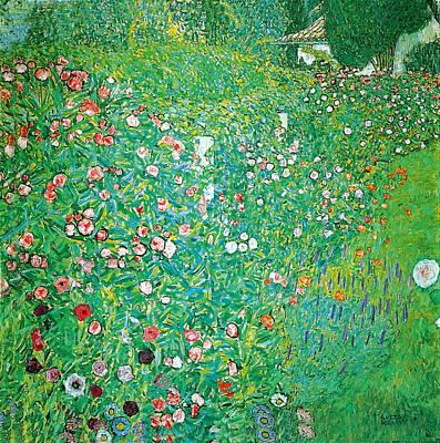 Photograph - Italian Garden Landscape by Gustav Klimt