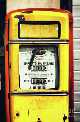 Photograph - Italian Gas Pump by Silvia Ganora