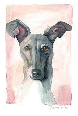 Italian Greyhound Art Print by Mike Lawrence