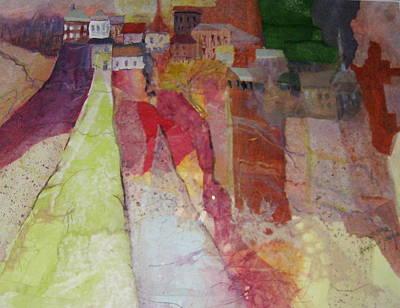 Italian Hill Town Art Print
