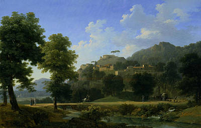 Italian Countryside Painting - Italian Landscape by Jean-Victor Bertin