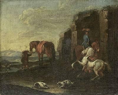 Hood Ornaments And Emblems - Italian Landscape, Pieter van Bloemen attributed to, 1700 - 1720 by Pieter van Bloemen