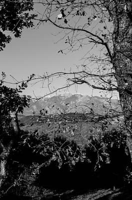 Italian Landscape - The Maiella Bw Print by Andrea Mazzocchetti