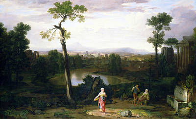 Italian Landscape Art Print by Washington Allston