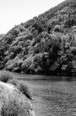 Photograph - Italian Landscapes - Lake San Domenico Bw by Andrea Mazzocchetti