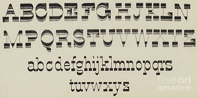 Alphabet Drawing - Italian, Large And Small Classic Font by English School