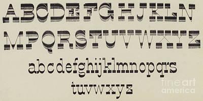 Italian, Large And Small Classic Font Art Print