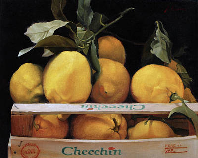 Painting - Italian Lemons by Michael Lynn Adams