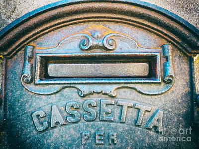 Photograph - Italian Mailbox Close Up by Silvia Ganora