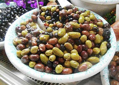 Photograph - Italian Market Olives by Irina Sztukowski