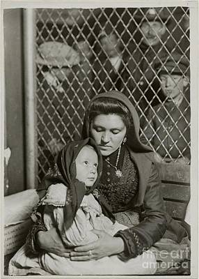 Ellis Island Painting - Italian Mother And Child by MotionAge Designs