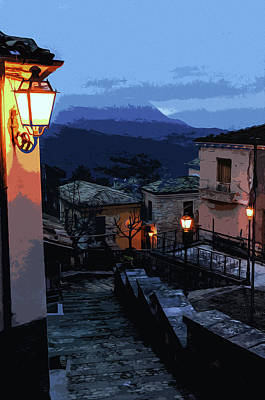 Painting - Italian Nights by Andrea Mazzocchetti
