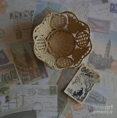 Italian Old Lace Basket Original by Marsha Heiken