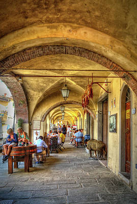 Greve In Chianti Photograph - Italian Portico by Robert Murray