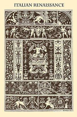 Marble Mosaic Drawing - Italian Renaissance by Italian School