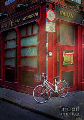 Photograph - Italian Restaurant Bicycle by Craig J Satterlee