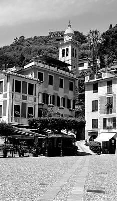 Portofino Cafe Photograph - Italian Riviera by Corinne Rhode