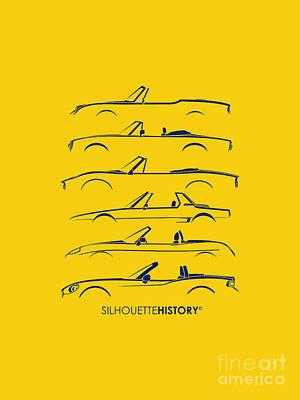 Italian Roadster Silhouettehistory Art Print by Gabor Vida