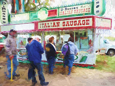 Painting - Italian Sausage by Cathy Jourdan