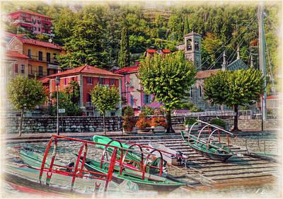 Photograph - Italian Scenic Boat Dock by Hanny Heim
