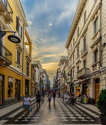 Photograph - Italian Shopping District by Randy Scherkenbach