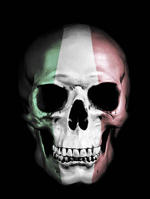 Art Print featuring the digital art Italian Skull by Nicklas Gustafsson