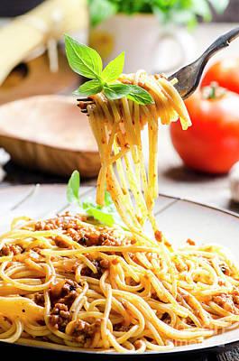 Photograph - Italian Spaghetti Bolognese by Jelena Jovanovic