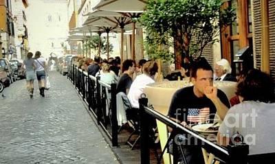 Photograph - Italian Street Cafe by Margie Avellino