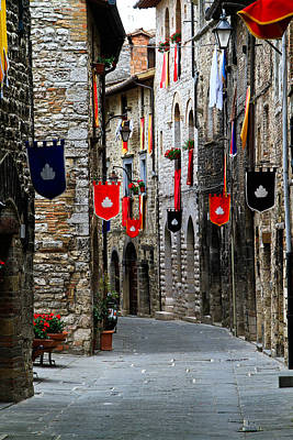 Photograph - Italian Street Flags by Roger Mullenhour