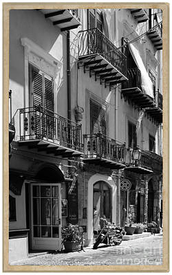 Old Masters - Italian Street in black and white by Stefano Senise
