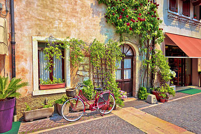Photograph - Italian Street Old Architecture In Lazise by Brch Photography