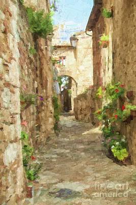 Photograph - Italian Street by Patricia Hofmeester
