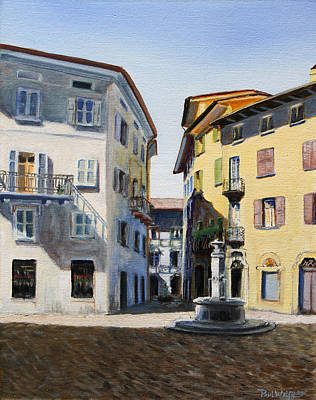 Ally Painting - Italian Street by Paul Walsh
