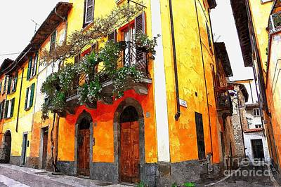 Photograph - Italian Streets In Yellow In Iseo Italy by Ramona Matei