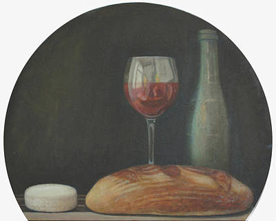 Italian Wine Painting - Italian Style Wine by Mark Manning