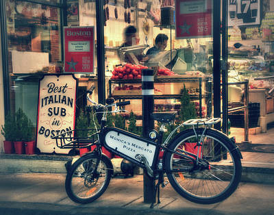 Photograph - Italian Sub Shop - Monica's Mercato - Boston North End by Joann Vitali