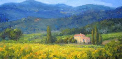 Italian Sunflowers Art Print by Bunny Oliver
