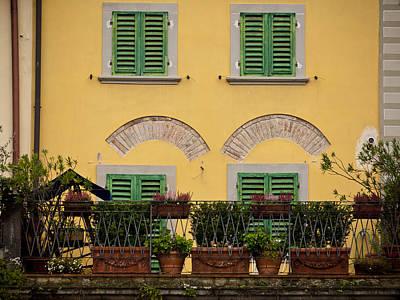 Greve In Chianti Photograph - Italian Terrace by Rae Tucker