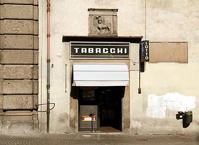 Photograph - Italian Tobacconist by Valentino Visentini