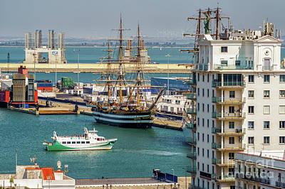Photograph - Italian Training Ship Amerigo Vespucci Cadiz Spain by Pablo Avanzini