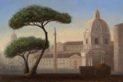 Italian Trees Original by Christy Olsen