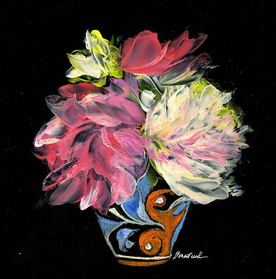 Wall Art - Painting - Italian Vase With Blooms by Alexis Bonavitacola